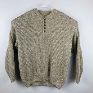 Eddie Bauer Vtg USA Fisherman Cable Knit Sweater